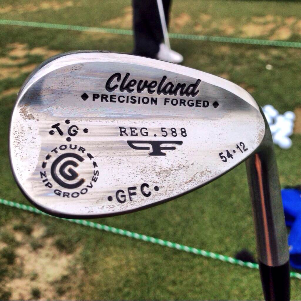 Seven-time European Tour winner Gonzalo Fernandez-Castano has his initials on this 54° Cleveland wedge.