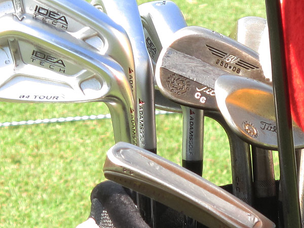 puts lead tape not only on his wedges, but also inside the bullet cavity on the bottom of his Scotty Cameron putter.