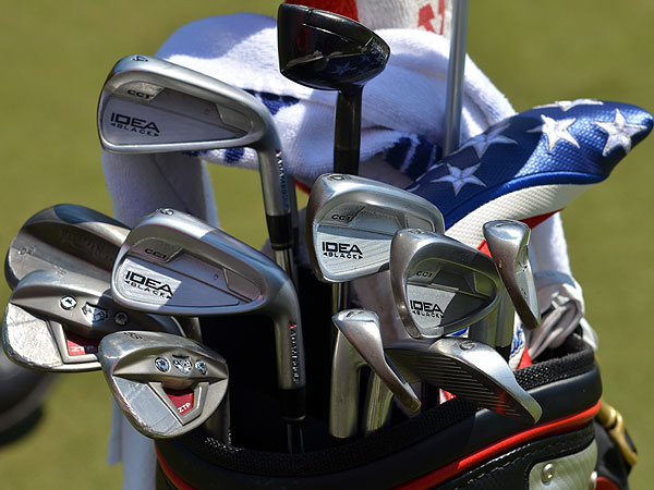 Chad Campbell plays a set of prototype Adams Idea irons.