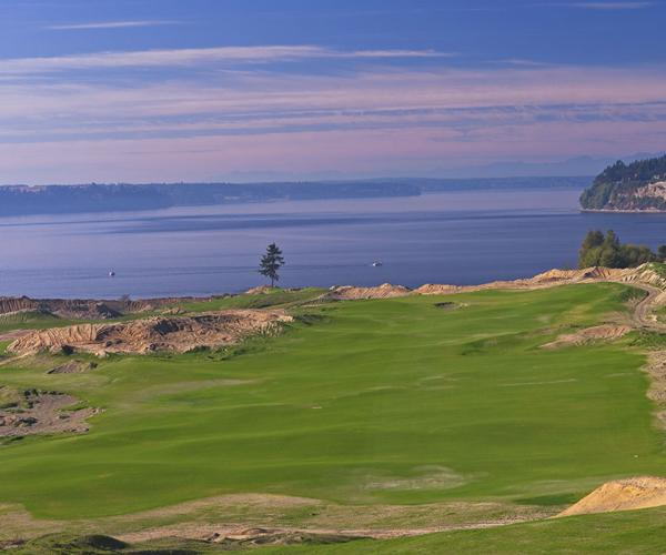 Chambers Bay                       Hole No. 5                       490 yards, par 4