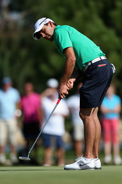 Charl Schwartzel on day one of the 2012 Turkish Airlines World Golf Final.