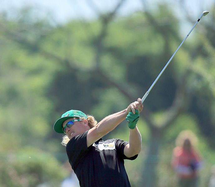 Charley Hoffman matched Tiger's 69.
