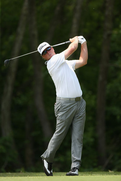 Charley Hoffman was in contention after a second-round 67 got him to -9.
