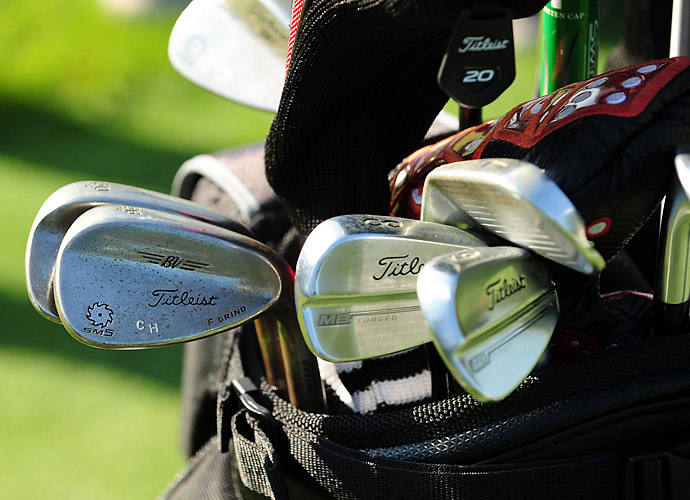 Charley Hoffman is on of the many Titleist players using custom-stamped Vokey SM5 wedges.
