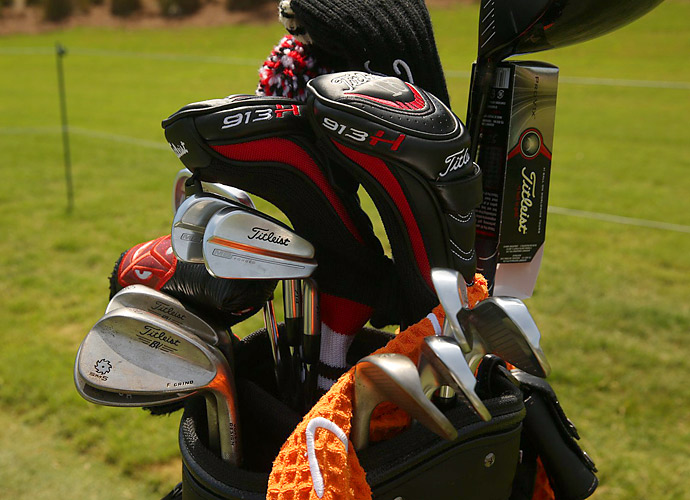 Charley Hoffman matches Titleist MB Forged irons and Vokey SM5 wedges.