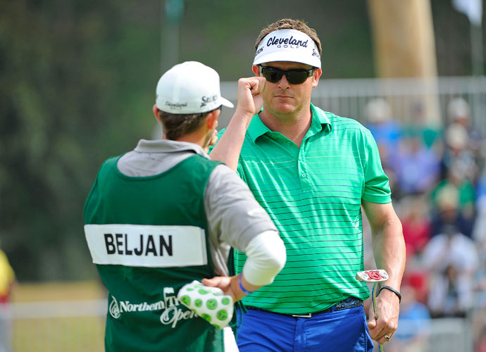 Charlie Beljan birdies the 14th hole in the third round. He shot 68 and was two shots back of William McGirt.