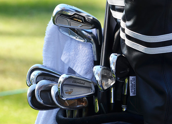 Charlie Beljan uses Cleveland Forged 588 CB mid- and short-irons, but he also carries 588 MT 2-, 3- and 4-irons.