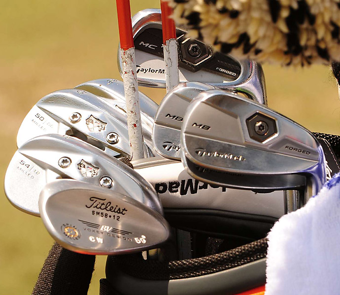 Charlie Wi uses three different types of TaylorMade irons.