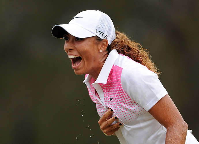 It was the 23-year-old Woods' first major professional victory.