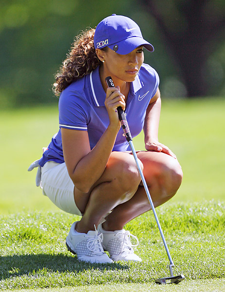 """My goals for my career are to play on the LPGA Tour and to be a consistent contender each week. Mainly, I want to prove to myself that I'm able to do it and I'm not just Tiger Woods' niece who gets all this attention. Also, I would love to be the first African American woman to win on the LPGA Tour."""