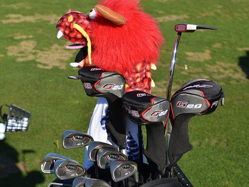 It's the Year of the Dragon, and Chris Couch has one guarding his Ping G20 irons.