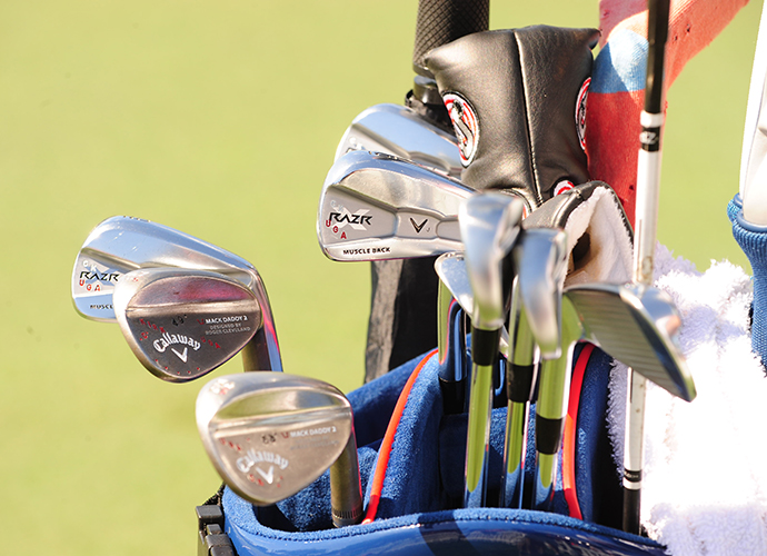 Chris Kirk has Callaway Mack Daddy 2 wedges in the bag.