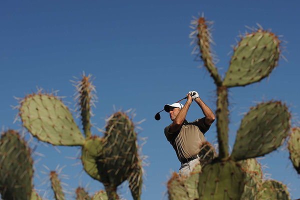As veteran Stewart Cink knows, golf in Arizona is all about blue skies and cacti.