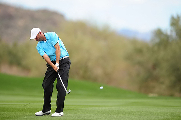 Cink is hitting his targets                           Between 2003 and 2007, Cink never hit more than 66 percent of greens in regulation for a season. So far this year, he has improved to 74.75 percent, and he now ranks sixth in the category. The leader is (surprise!) Woods at 80.56 percent. Cink is playing with Nike CCi Forged irons.