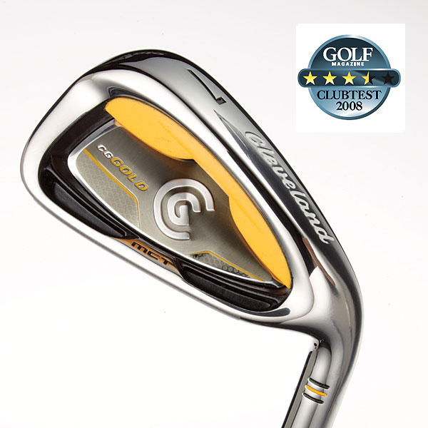 "Cleveland CG Gold                           $599, steel; $699, graphite; clevelandgolf.com                                                      We tested: 3-PW in True Temper Actionlite Flighted steel shaft. Shaft length/loft (6-iron): 37.25""/30°                           Company line: ""The thick topline, longish blade and offset inspire confidence at address. 'Gelback' technology is vibration-tuned for exceptional feel and to absorb harsh vibration on mis-hits.""                                                      Our Test Panel Says:                           PROS: The rear plastic unit gives these an almost squishy soft feel on chips; digs through rough like a tiller and elevates shots; sweet spot gives adequate room for error; produces high flight with good carry; good for the guy looking to break 90; nice simple click on full shots and the ball is gone; rounded edges and brushed metal give it a smart look.                            CONS: Only moderate response on ballstriking; not among the best distance-wise for off-center hits; big head can be clumsy on chips.                            Rate and Review this club"