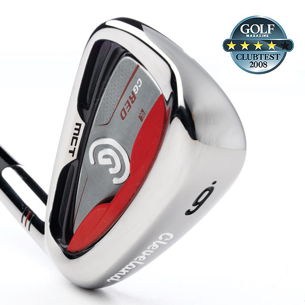 "Cleveland CG Red                            $699, steel                            clevelandgolf.com                                                       We tested: 3-PW in True Temper Dynamic Gold steel shaft. Shaft length/loft (6-iron): 37.25""/30.5°                                                       Company line: ""CG Red has a compact head for shotmaking and workability. Our ""Gelback"" technology is vibration-tuned for accomplished players who want a soft feel on well-struck shots but require more responsiveness on off-center hits. The micro-cavity stiffens the topline for optimal energy transfer, more distance and forgiveness.""                                                      Voted Best for Forgiveness in 2008 ClubTest                                                      Our Test Panel Says:                            PROS: Dependable, confidence-inspiring package; overall forgiveness is its best trait; gets out of trouble and creates scoring opportunities; longer irons pleasingly                            easy to hit; adequate when trying to work the ball; super-friendly across the face; muted feel, not to be confused with dead feel; lots of room for misses; for players who want forgiveness and not-so-intense feel.                                                       CONS: Not overly nimble on chips; could use more precise feedback for delicate shots; red insert is a visual turnoff.                                                       ""You can shape shots without the sting of poorly struck ones.""— Hoai Hoang (9)                                                      Rate and Review this club"