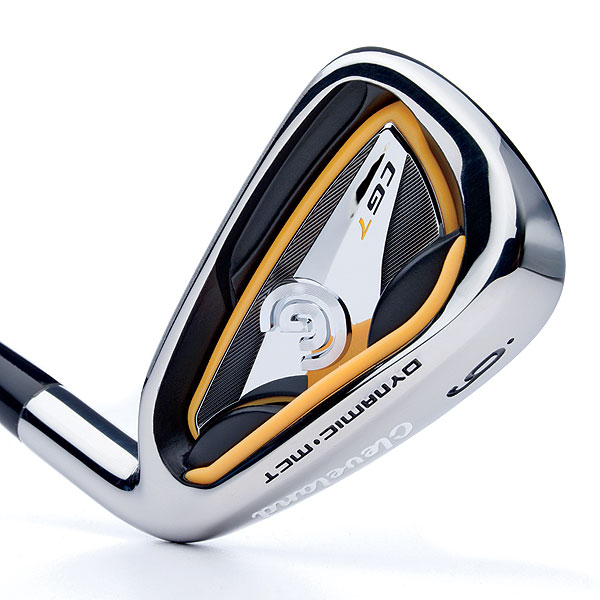 """Cleveland CG7                             $599, steel; $699, graphite                             clevelandgolf.com                             It's for: All skill levels                             A molded one-piece viscoelastic insert around the cavity perimeter and base of the head (called Gelback technology) absorbs shock at impact for more consistent feel across the face. Progressive """"micro cavity"""" technology (decreases in size from long to short irons) fosters control throughout the set. The CG7 has a 5 percent higher MOI, and a 10 percent deeper center of gravity location, than CG Gold irons. This could lead to greater ball speed and overall distance. A sister product, the CG7 Tour, features a smaller blade, thinner topline and less offset than the CG7.                                                          • Rate and review this club"""