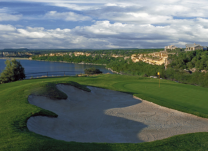 The Cliffs Resort, Graford: Robert von Hagge teamed with Aussie great Bruce Devlin to craft a cliff-top stunner that overlooks Possum Kingdom Lake, two hours west of Dallas. Ravines, cedar groves, rock outcroppings and tall native grasses lend variety and hazard value amid the roller coaster elevation changes. (940-779-4520, thecliffsresort.com)