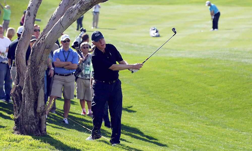 Clinton partnered with Greg Norman in the third round at the 2012 Humana Challenge. The Bill Clinton Foundation was one of the event's sponsors.