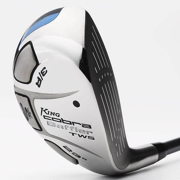 "$149, graphite                           cobragolf.com                            Peter Soracco, Principal Design Engineer:  ""With the Baffler TWS [number-one selling utility metal], we adjusted the internal weighting to lower the center of gravity location. This creates a slightly higher launch angle and increased MOI for more forgiveness and consistency.""                            How it works: Cobra's navy blue Baffler TWS hybrid features a larger face area (with laser welded stainless steel insert) to maintain ball speed on misses. The ""Triple Weight System"" (TWS) pushes mass to the head's periphery, to promote greater forgiveness. A contoured sole enhances playability from a variety of playing conditions.                                                       Buy and Compare This Hybrid"