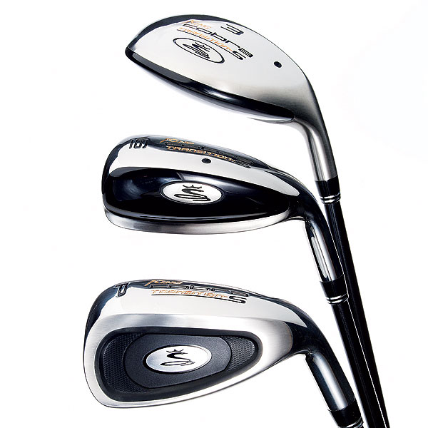Cobra Transition-S                       $699, graphite                       cobragolf.com                       This upgraded model should provide maximum help for players with moderate ball speeds. Low-profile utility clubs (3 to 5) have weight low and rearward, with draw bias, to get shots up. The center of gravity in hybrids (6 and 7) is more heel side than in the previous Transition-S, for greater draw bias. Wide-soled short irons (8 to PW) have a two-piece silicone insert to control vibration and sweeten feel. A harder silicone layer rests against the face while a softer piece is visible in the cavity.