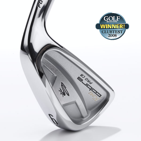 "Winner: Irons — Better Player                           Cobra Pro CB                           $ 849, steel;  cobragolf.com                                                      The cavity-back design has plenty of weight behind the hitting area, for sweet feel and precise maneuverability. If you fit the player profile, these are fantastic, memorable sticks. They're a real treat to swing. In fact, several panelists say they feel like marksmen. Good news, too, that off-center hits won't bruise the hands or the ego. Like any tour-caliber iron, the Pro CB has a compact, pleasing shape for all to behold.                                                      ""I hit lasers from good lies, making tight pin positions accessible.""— Joe Nagel (4)                                                      • More Better-Player Irons"