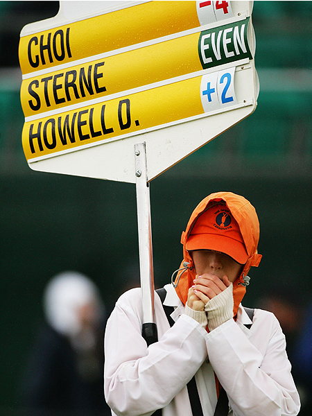 With temperatures in the 40s Thursday morning at Carnoustie, everyone was feeling the chill.