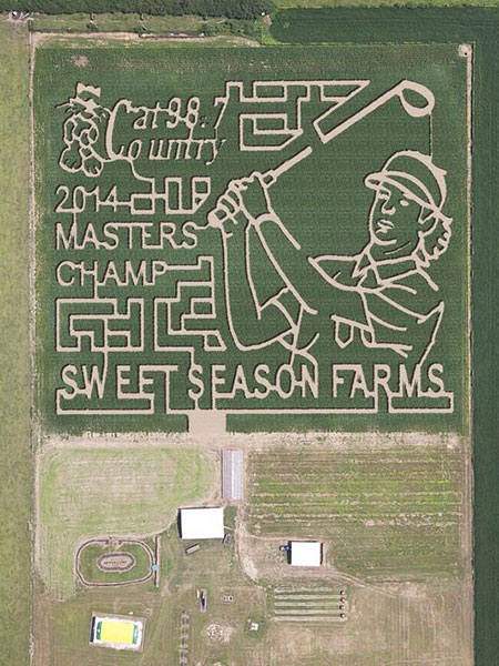 MOST A-MAZE-ING SALUTE                           The green blazer is nice, but you haven't made it until you've been memorialized with a corn maze. A farm near Bubba Watson's Florida hometown unveiled an eight-acre vegetative tribute, depicting the big lefty in his follow-through.