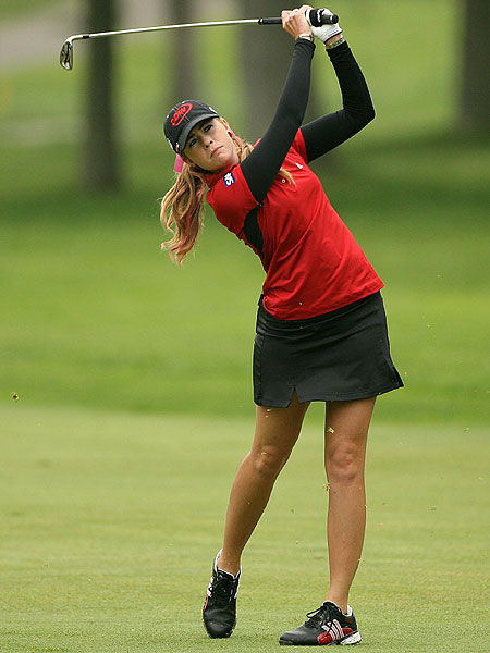 A 68 moved Paula Creamer up the leaderboard and into a tie for fourth, three shots behind Oh and Pettersen.