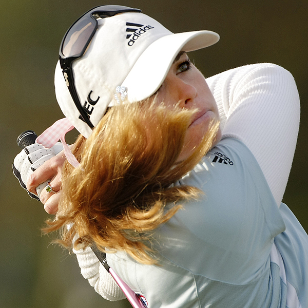 Thanks to a birdie on 17, Paula Creamer finished her round at even par.