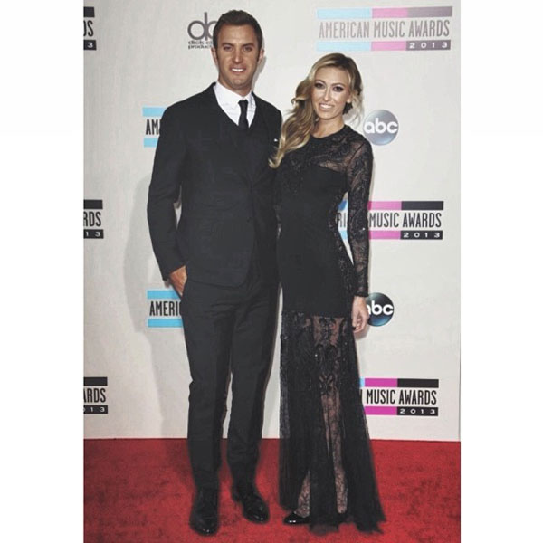 @DJohnsonPGA:  AMAs last night with my gorgeous fiancé@paulinagretzky