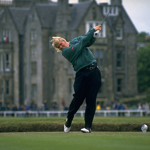Daly defeated Constantino Rocco in a playoff to win the British Open at St. Andrews in 1995. His length off the tee and surprisingly good touch on the greens powered him to the top of the leaderboard.