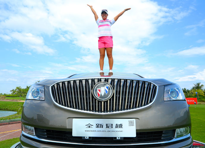 """I was actually thinking about a hole-in-one, because I've been touching that car … I really wanted the car.""                           —Danielle Kang on winning two cars with two holes-in-one in two weeks."