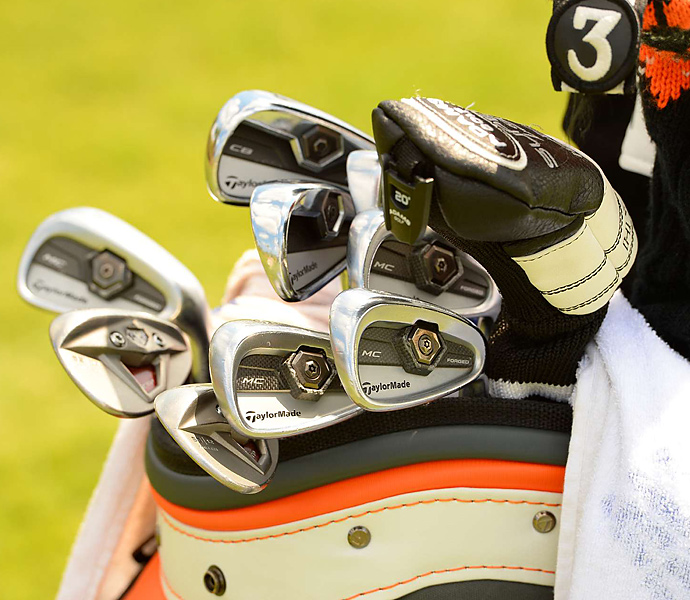 David Mathis uses a mixed bag of different TaylorMade irons and wedges.