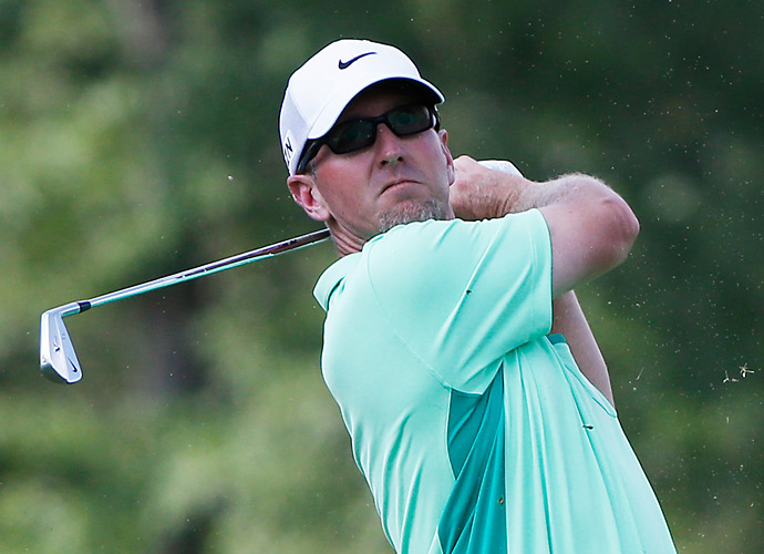 Veteran David Duval had a horrible day, finishing with an 81.