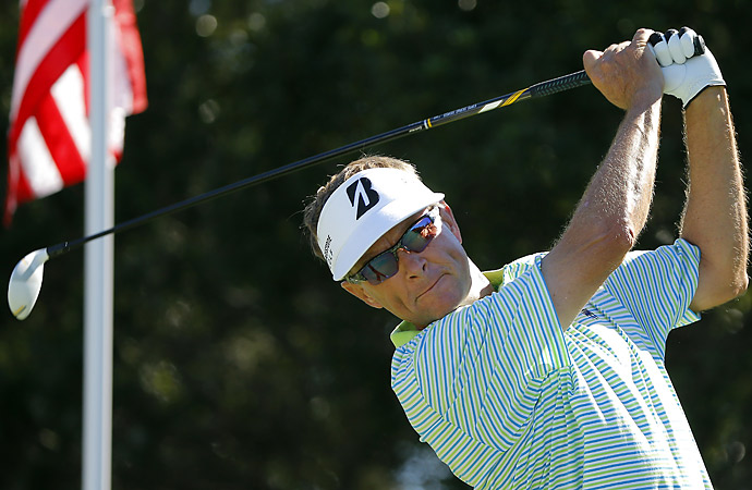 Former U.S. Ryder Cup captain Davis Love III is competing this week at Sea Island.