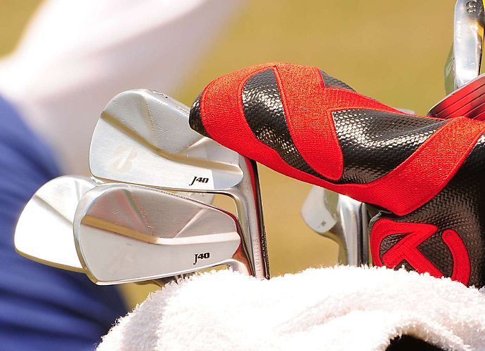Davis Love III plays Bridgestone J40 irons.