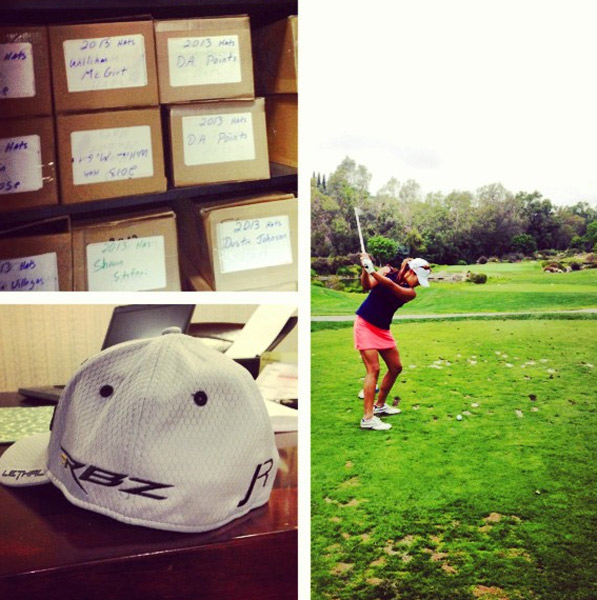 @demifrances: Thank you @nicolettebondura for letting me tag along on the tour of #Taylormade HQs and play Aviara Golf Club!!  So stoked about my souvenir...one of Justin Rose's personalized hats #golferlife #golfnerd #ilovemyjob #blessed #motivation