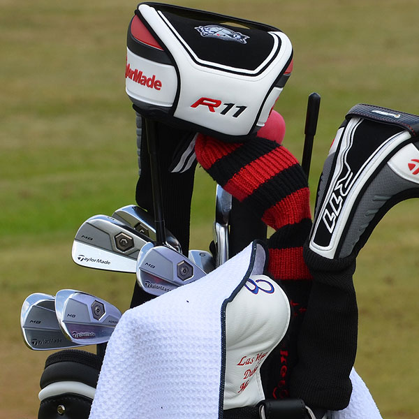 Dustin Johnson is playing TaylorMade's Tour Preferred Forged Muscleback irons.