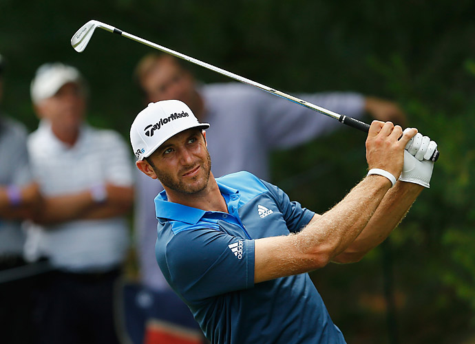 Dustin Johnson was four back after a 66.