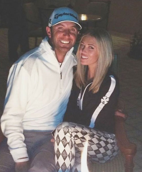 Johnson tweeted out this photo of the couple at the Madison Club in LaQuinta, Calif., after Gretzky posted a photo from the golf course on Instagram earlier in the day.