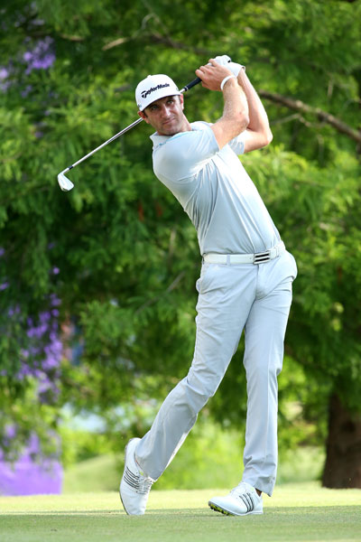 Dustin Johnson was within striking distance after a 2-under 68 in the first round, five shots off the lead.