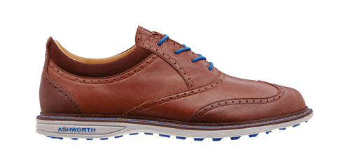 Ashworth Encinitas Wingtip ($200; ashworthgolf.com): Ashworth's first wingtip shoe features a leather upper and lining, a spikeless outsole, and is available in three colors.