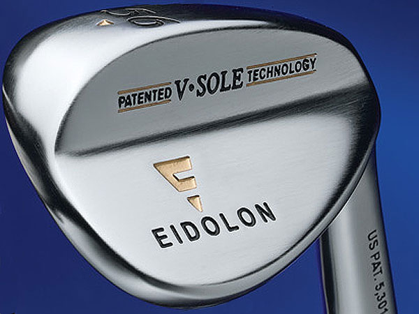 "$129                           eidolongolf.com                           Made of: Cast 8620 carbon steel                           Loft/bounce(s): 48°/15° and 3°, 52°/18° and                           3°, 56°/30° and 7°, 60°/25° and 6°                            The ""V-sole"" is designed with two                           distinct bounce angles. Its leading edge                           has high degrees of bounce so the club                           won't dig into the turf. Reduced bounce                           angle toward the rear allows for greater                           versatility from tight lies.                           Clubface and grooves are machine-milled,                           for maximum allowable groove volume.                           Available in steel or graphite shafts, to                           match the rest of your iron set."