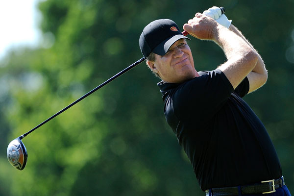 A one-under-par opening nine holes was tarnished by Steve Elkington's finish on Friday. The 1995 PGA Championship winner went bogey-bogey-double bogey to finish at four over for the tournament.