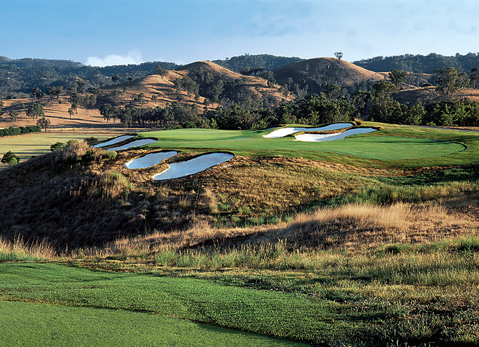 1. Ellerston Golf Course in New South Wales, Australia: One of the world's most exclusive clubs was built in 2001 as the private domain of Australia's richest man, the late Kerry Packer. Set into rugged bush country of the Upper Hunter Valley, a four-hour drive northwest of Sydney, the brawny, drama-filled course features numerous forced carries over deep gullies and ravines. The majority of the course resides in a valley, with Pages Creek influencing play on half the holes. Ellerston would easily qualify for Top 100 in the World honors, but not enough panelists have seen it.