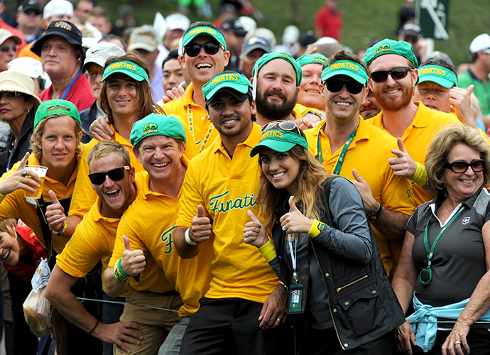 Ellie may be from Columbus, Ohio, but she and Jason still enjoyed the (rowdy) support of Aussie Nation at the 2013 Presidents Cup.