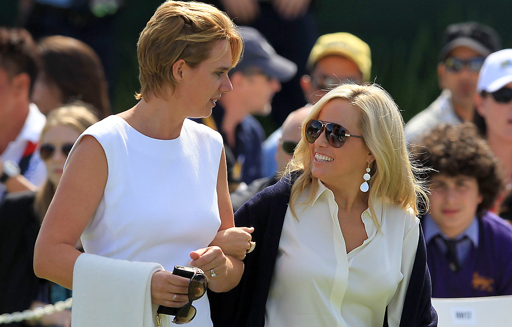 Liezl Els and Amy Mickelson arrived together for the ceremony.