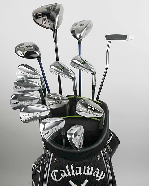 Four-time major champion Ernie Els plays Callaway RAZR X Muscleback irons. (Photo taken 2/26/2013)