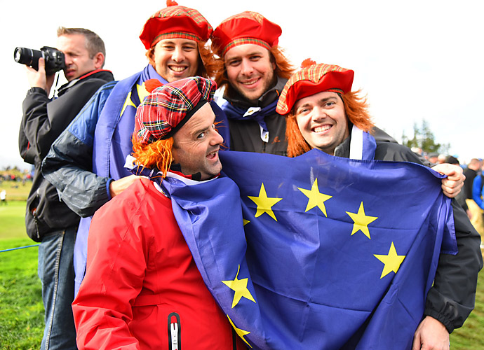 European supporters haven't been shy in representing their team at Gleneagles.
